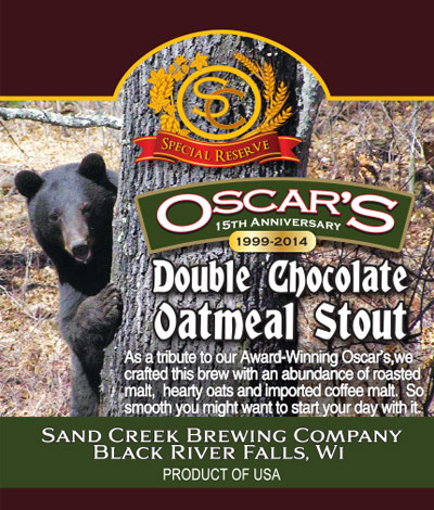 Oscar's Double Chocolate Oatmeal Stout