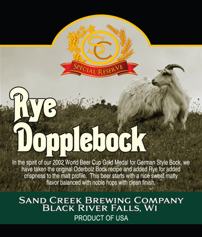 Sand Creek Rye Dopplebock